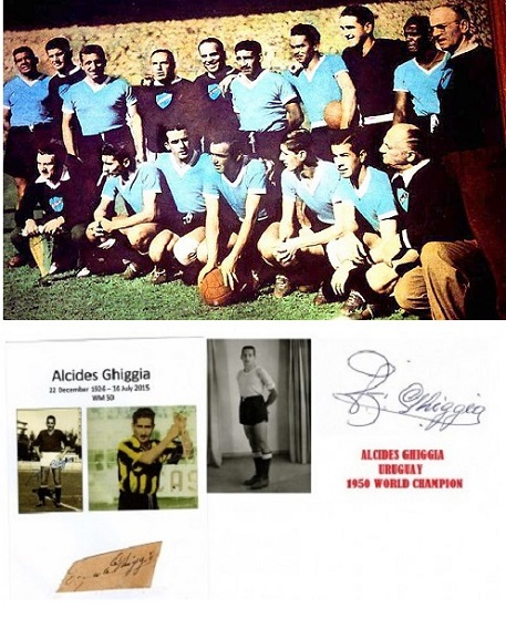 1.Alcides Ghiggia -Uriuguay 1950 World champion